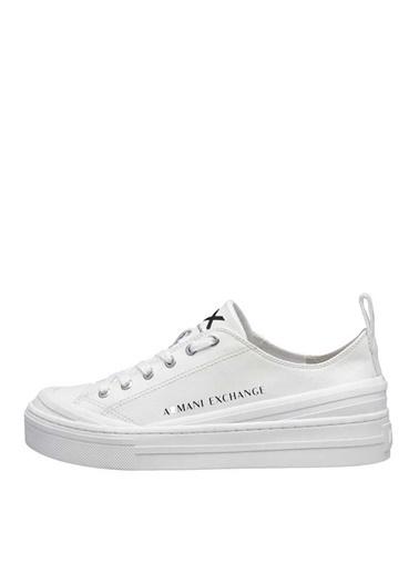 Armani Exchange Armani Exchange Kadın Düz Topuk Beyaz Sneaker Beyaz